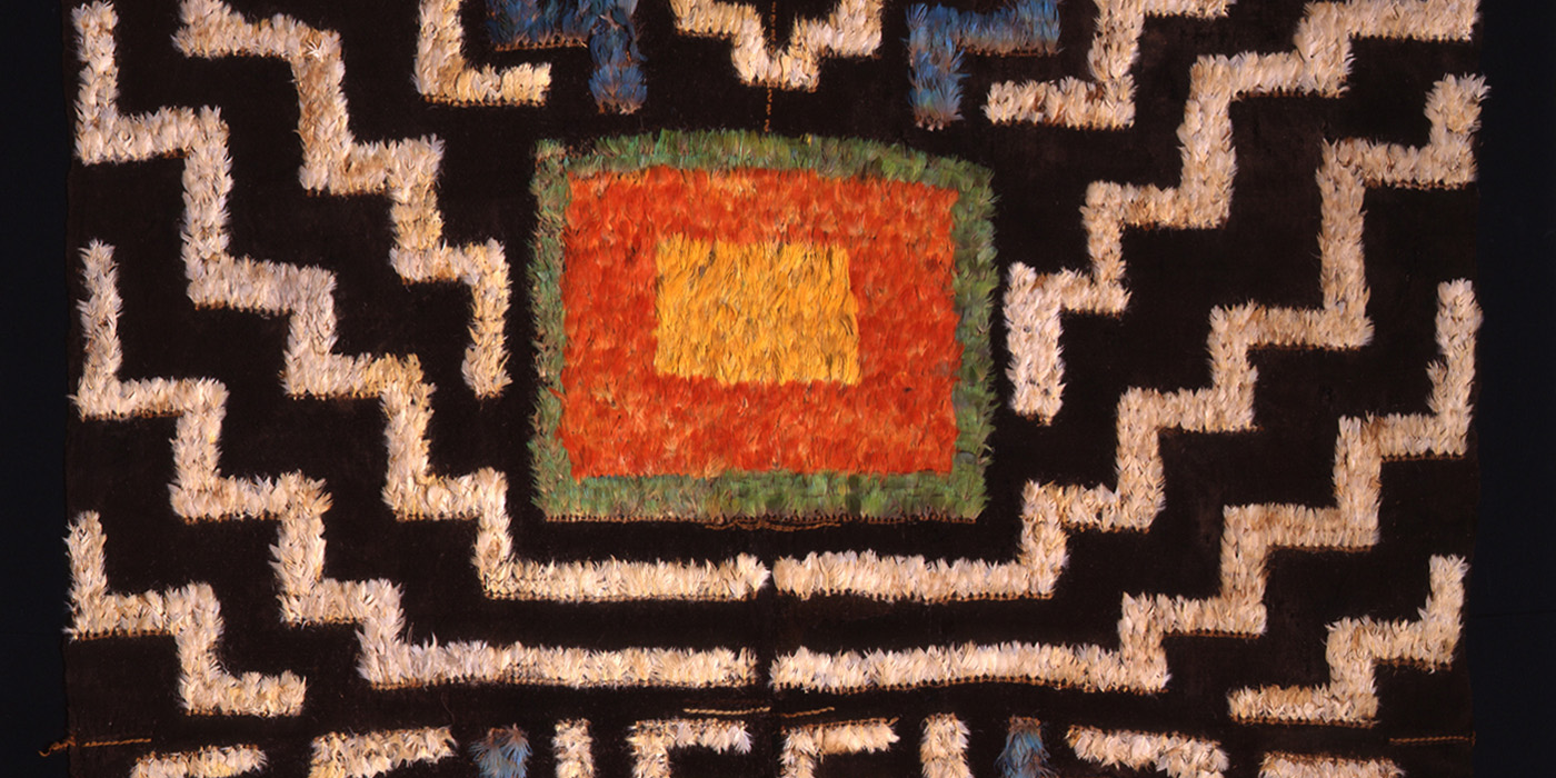 Huari Feather Tunic (detail), circa 800 AD, 220 x 160 cm