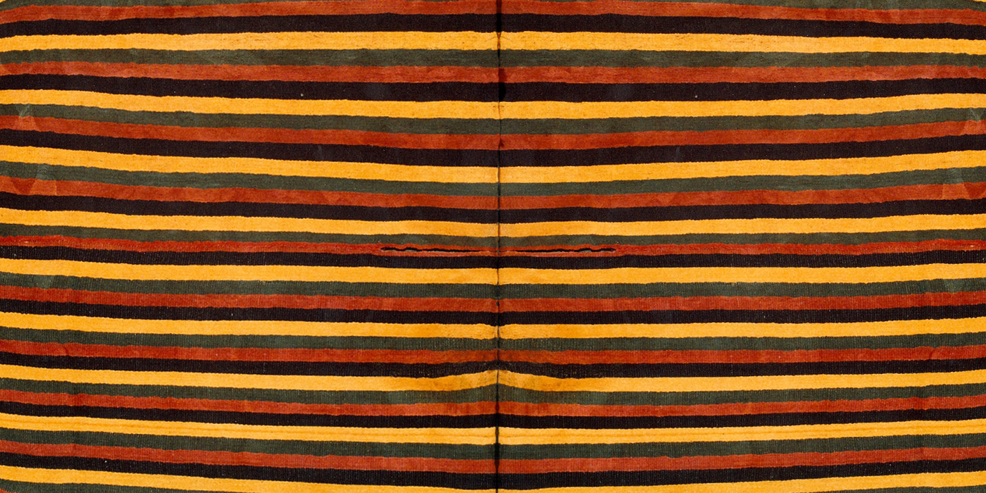 Stripe Tunic (detail), Huari Culture. circa. 800 AD, 198 x 96 cm