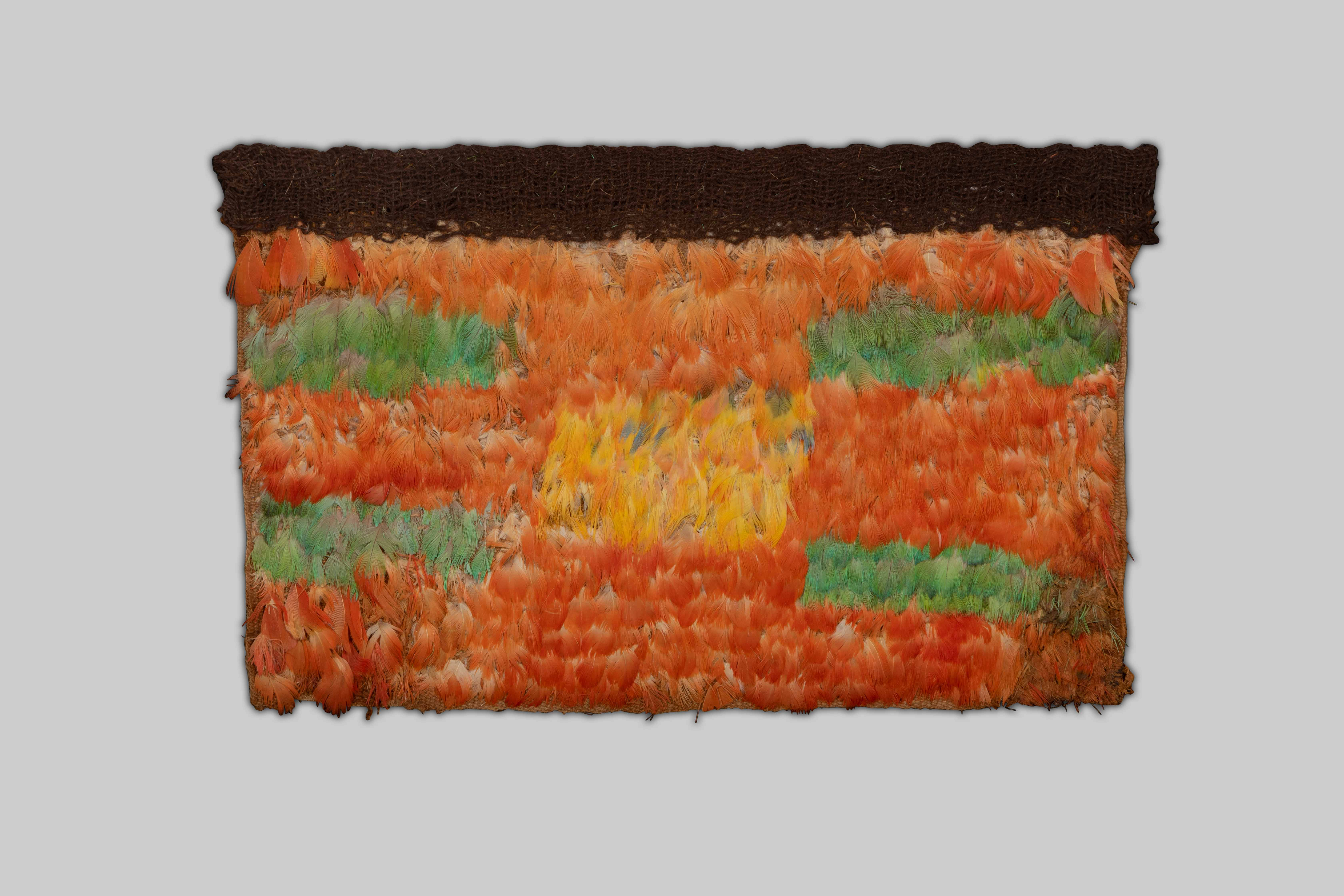 Huari Feather Panel (Orange and Yellow), c.800 AD