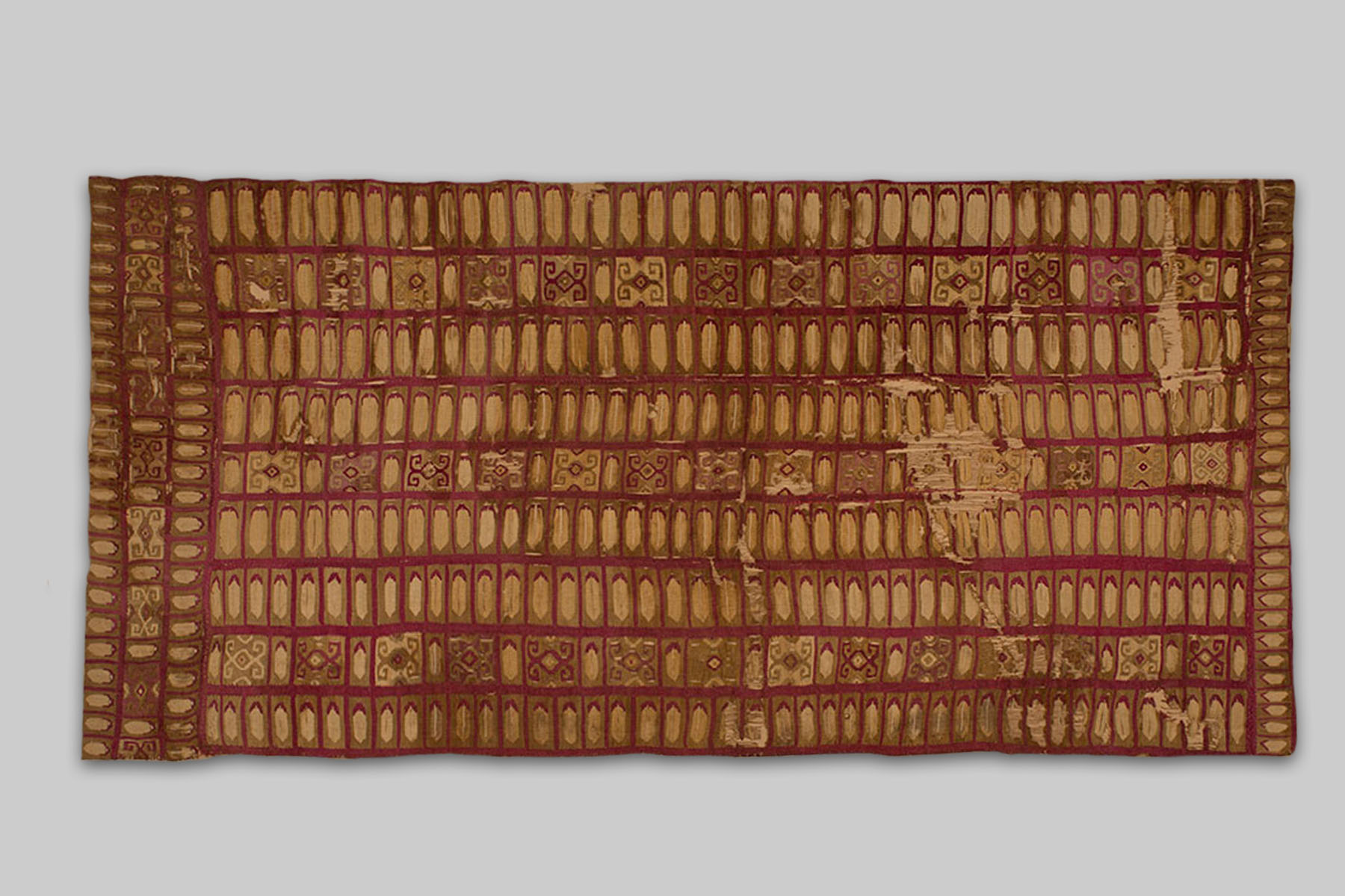 Tunic Panel (in Golden Color), Inca, 1400 AD
