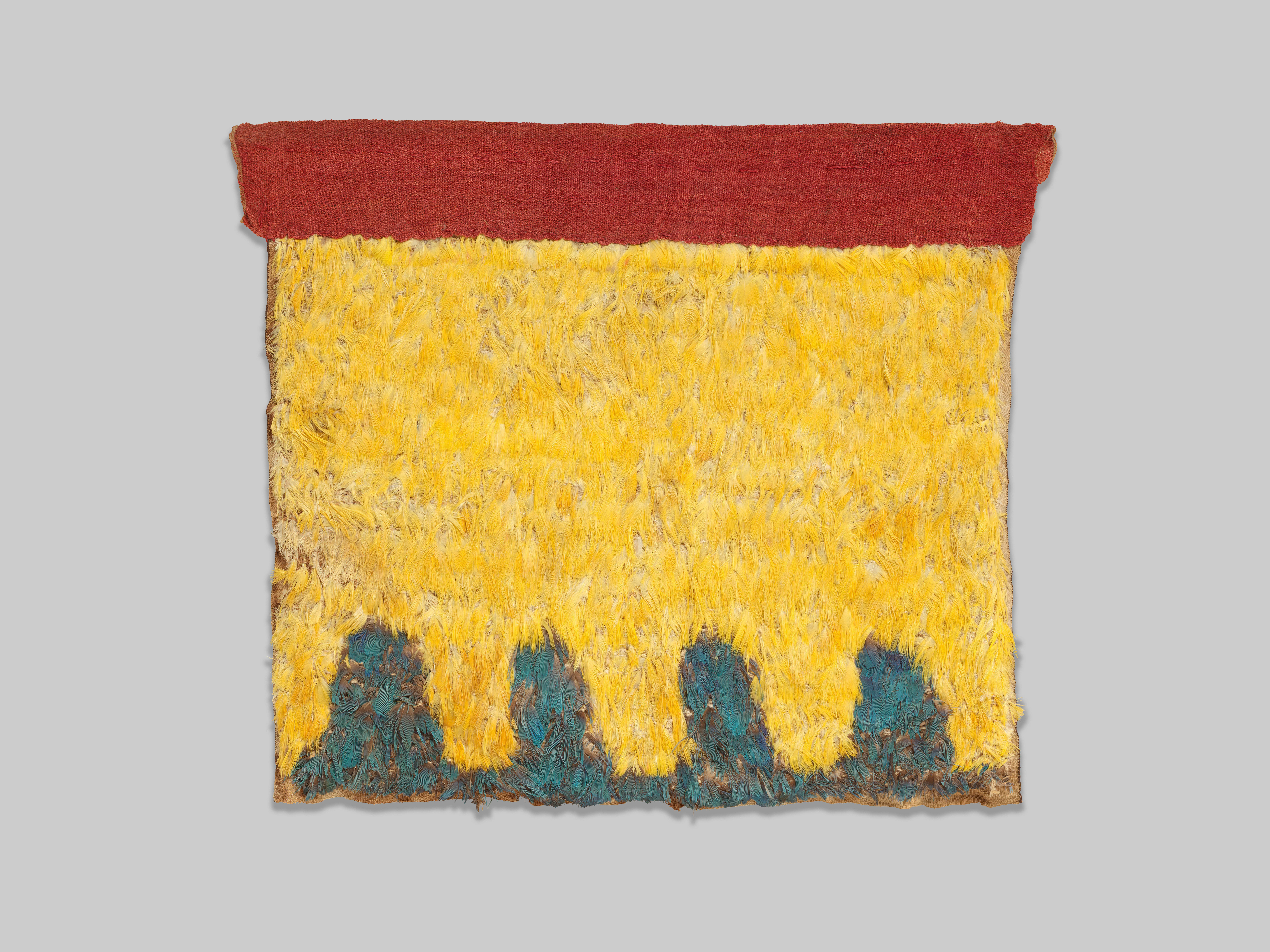 Feather panel (Blue and Yellow), c.800 AD
